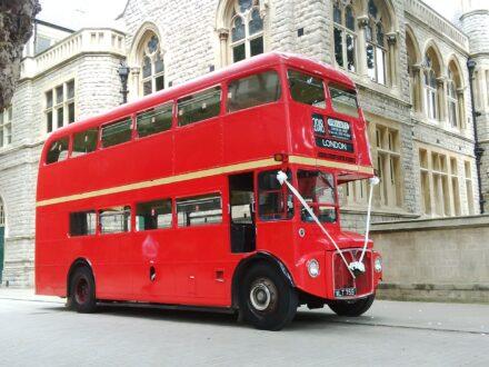 Exterior of Routemaster wedding bus