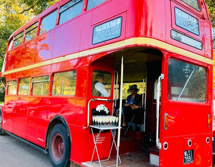 Welcome drinks on a Routemaster