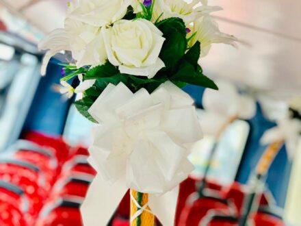 Double Decker wedding bus decoration