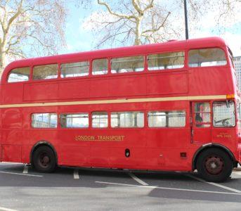 Classic Routemaster bus London exterior