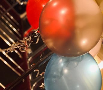 Balloons in a Routemaster Party Bus