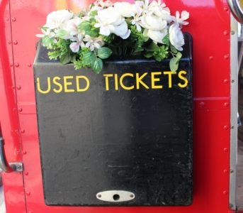 Routemaster wedding flower decoration tickets box