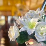 Routemaster wedding bus decoration