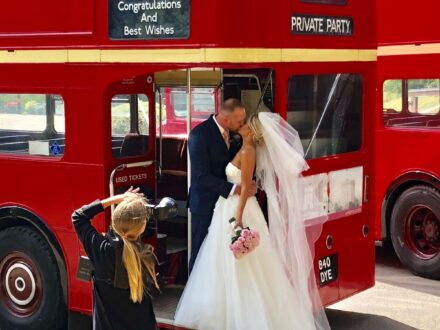 Wedding in a Routemaster bus