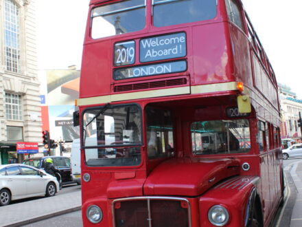 Welcome aboard Routemaster bus London