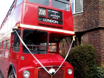 Classic Routemaster wedding bus
