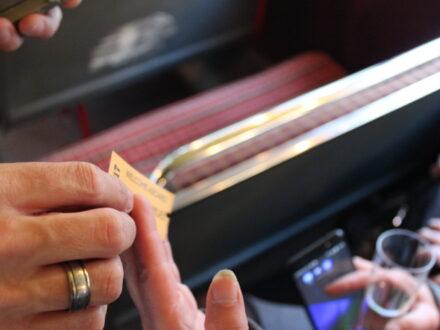 Personalised wedding bus ticket