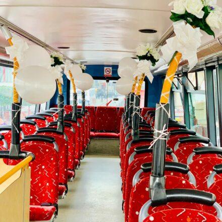 Interior Double Decker wedding bus