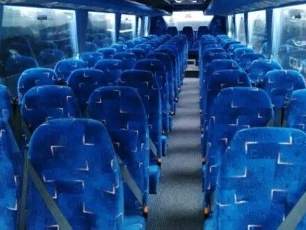 Interior coach blue seats